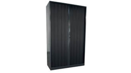 Armoire en métal avec portes rideaux 180 x 100 x 40 allomat