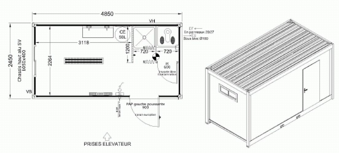 Bungalow sanitaires | Allomat